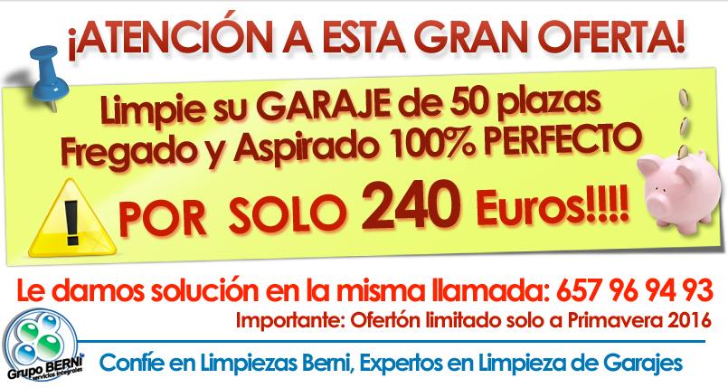 oferta limpieza de garajes madrid 2016