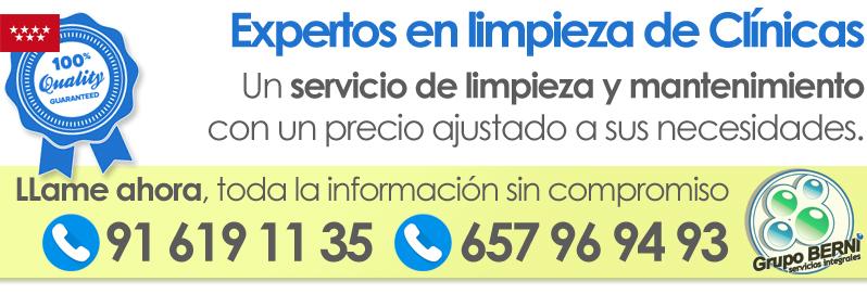 Empresa de limpieza de Clinicas en Madrid