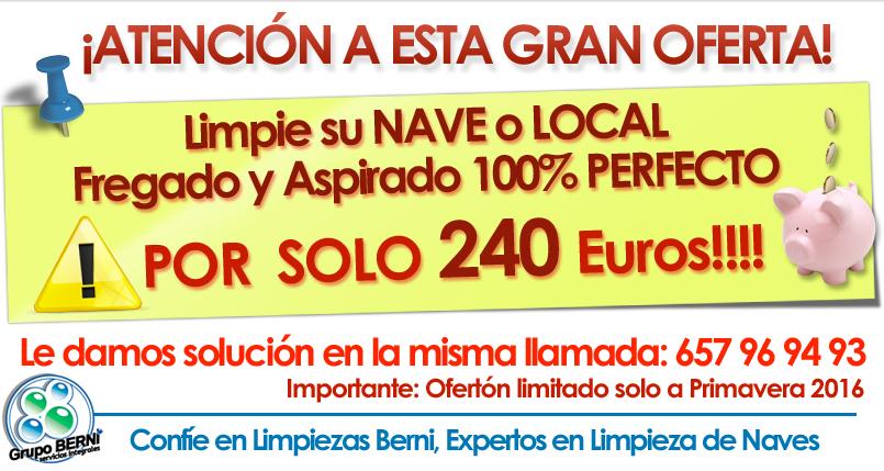 OFERTA Limpieza de naves industriales Madrid