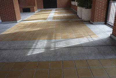 limpieza de suelo exterior