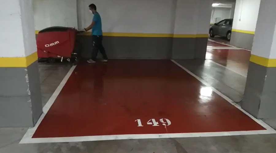 eliminacion de manchas de aceite en garaje despues